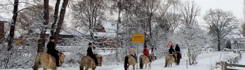Freizeitreiten Hopp - Ausritt im Schnee